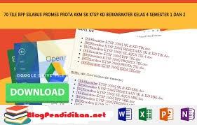 Download Prota Promes dan KKM Untuk Sekolah Dasar (SD)