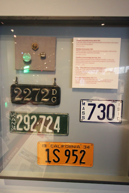 Vehicle Plates in early days at National Museum of American History in Washington DC, USA