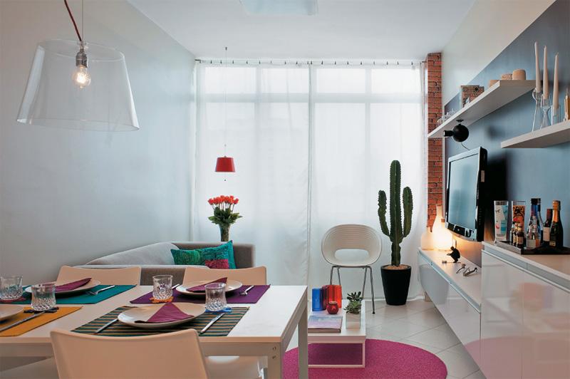 decoracao de interiores para ambientes pequenos : decoracao de interiores para ambientes pequenos:Para compor essa sala de estar e jantar maravilhosa: