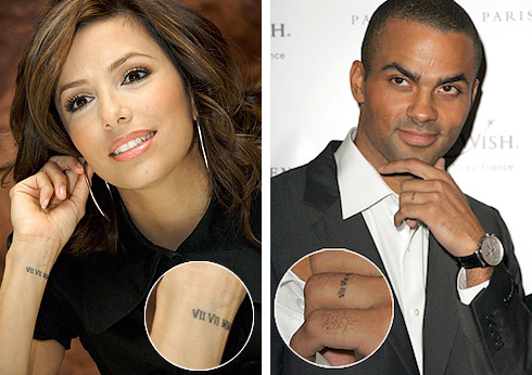 Both of them are inked with the date of their wedding July 7 2007