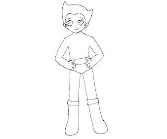 #5 Astro Boy Coloring Page
