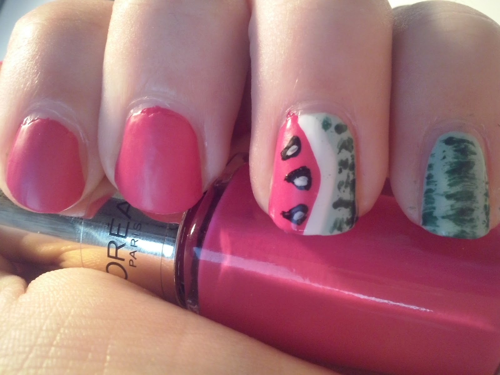 Made By Danille Watermelon Nail Art