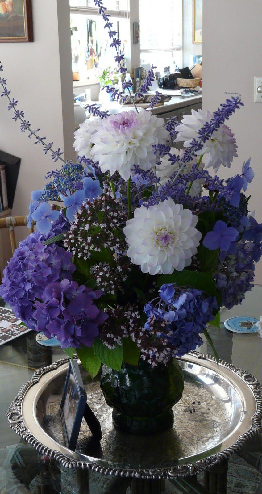 Lynch creek dahlias think ahead to bouquets of dahlias shirley beliks blue arrangement izmirmasajfo
