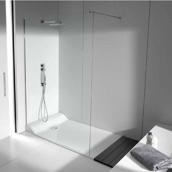 Mamparas Para Ducha Glassic:Además de espacio de ducha con mampara (incluye la tarima de madera