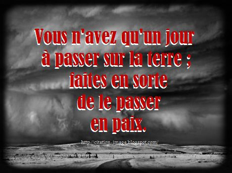 Citation sur la paix