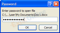 mengunci file Microsoft word dengan password