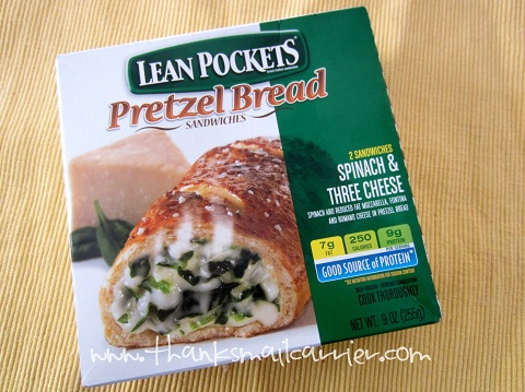 Lean Pockets pretzel sandwich