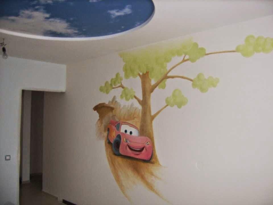Как разрисовать стены в детской своими руками фото