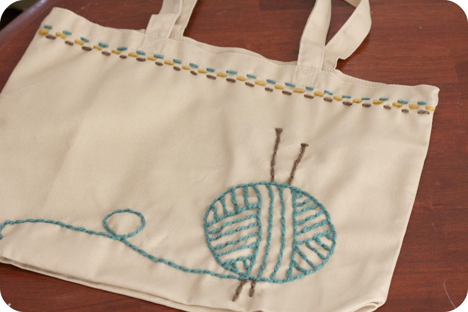 Knitting Yarn Bag Pattern : little lovelies: tutorial: knitting bag