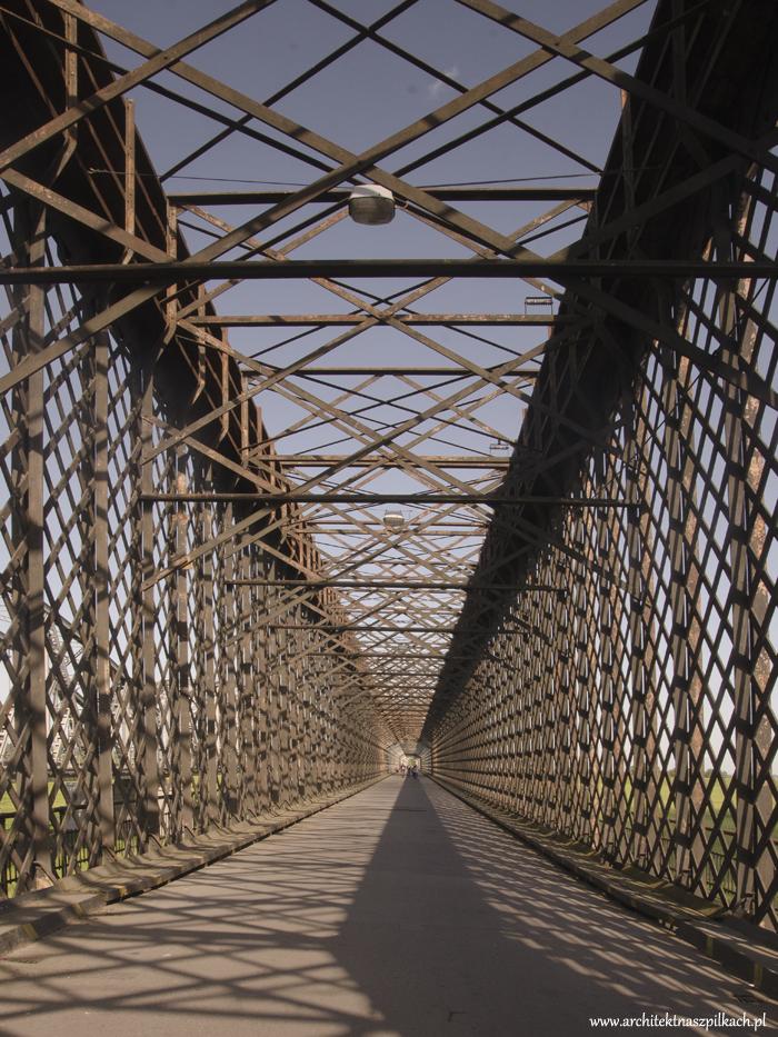 19th century railway bridge in Tczew, Poland