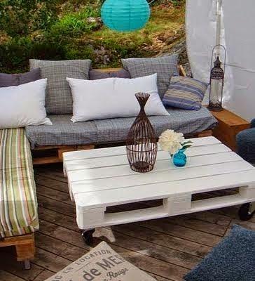 fotos de muebles con tarimas - Más de 20 ideas para hacer tus propios muebles con Paléts