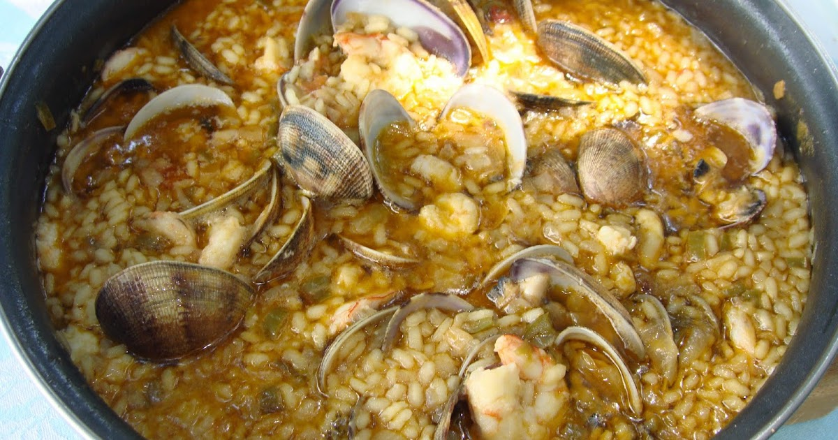 Cocinando al potop arroz con almejas y gambas - Arroz con gambas y almejas ...