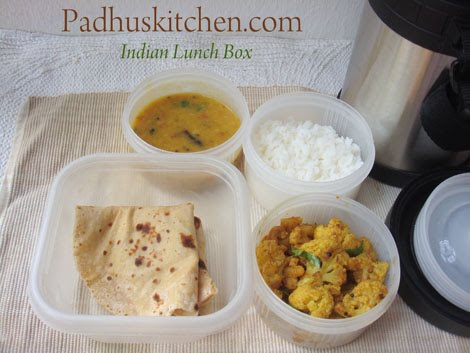 Healthy lunch box recipes indian