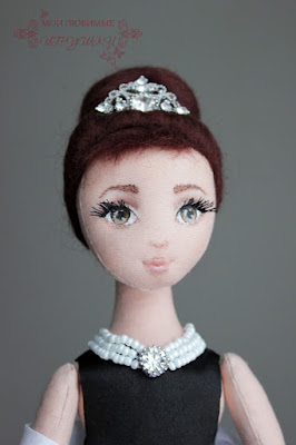 Как сделать нос у текстильной куклы