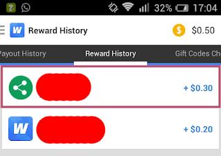saldo awal whaff rewards dengan memasukan kode AJ40497