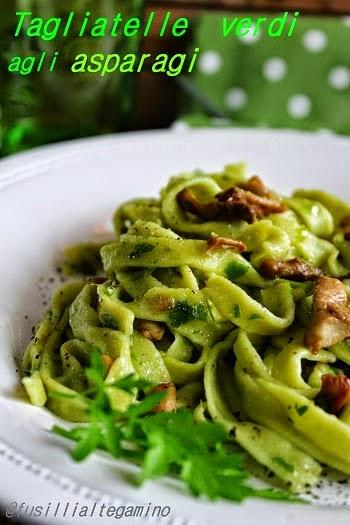 Coloriamo la pasta: verde agli asparagi