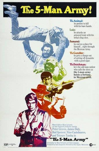 The Five Man Army (1969) ταινιες online seires xrysoi greek subs