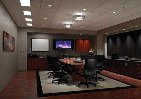 Lutron Grafik Eye QS dimming system - application in a conference room