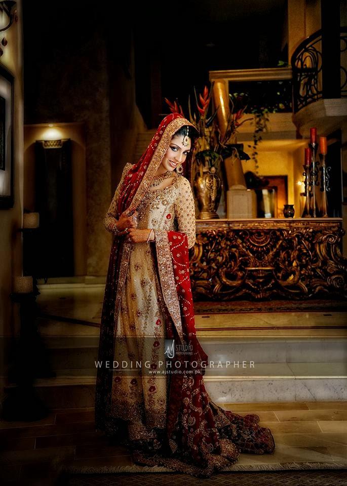 New Pakistani Bridal Dresses 2014