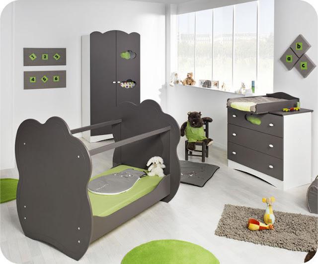 Idee Deco Chambre Garcon Kaki : Dans la pépinière cidessous, une idée de conception de Vertbaudet