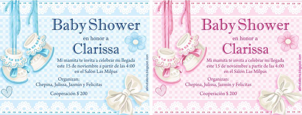 Invitaciones De Baby Shower Con Tema De Zapatitos