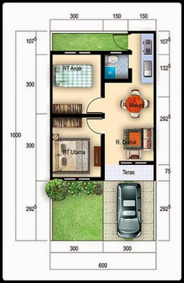 10 desain rumah minimalis type 36 sederhana elegan