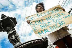 Protesto contra o pastor Feliciano