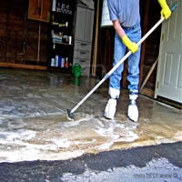Garage cleaning and treatment