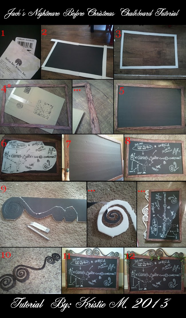 DIY Nightmare Before Christmas Halloween Props: Jack's Chalkboard ...