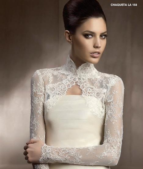 vestidos de novia: chaquetas y boleros para vestidos de novia