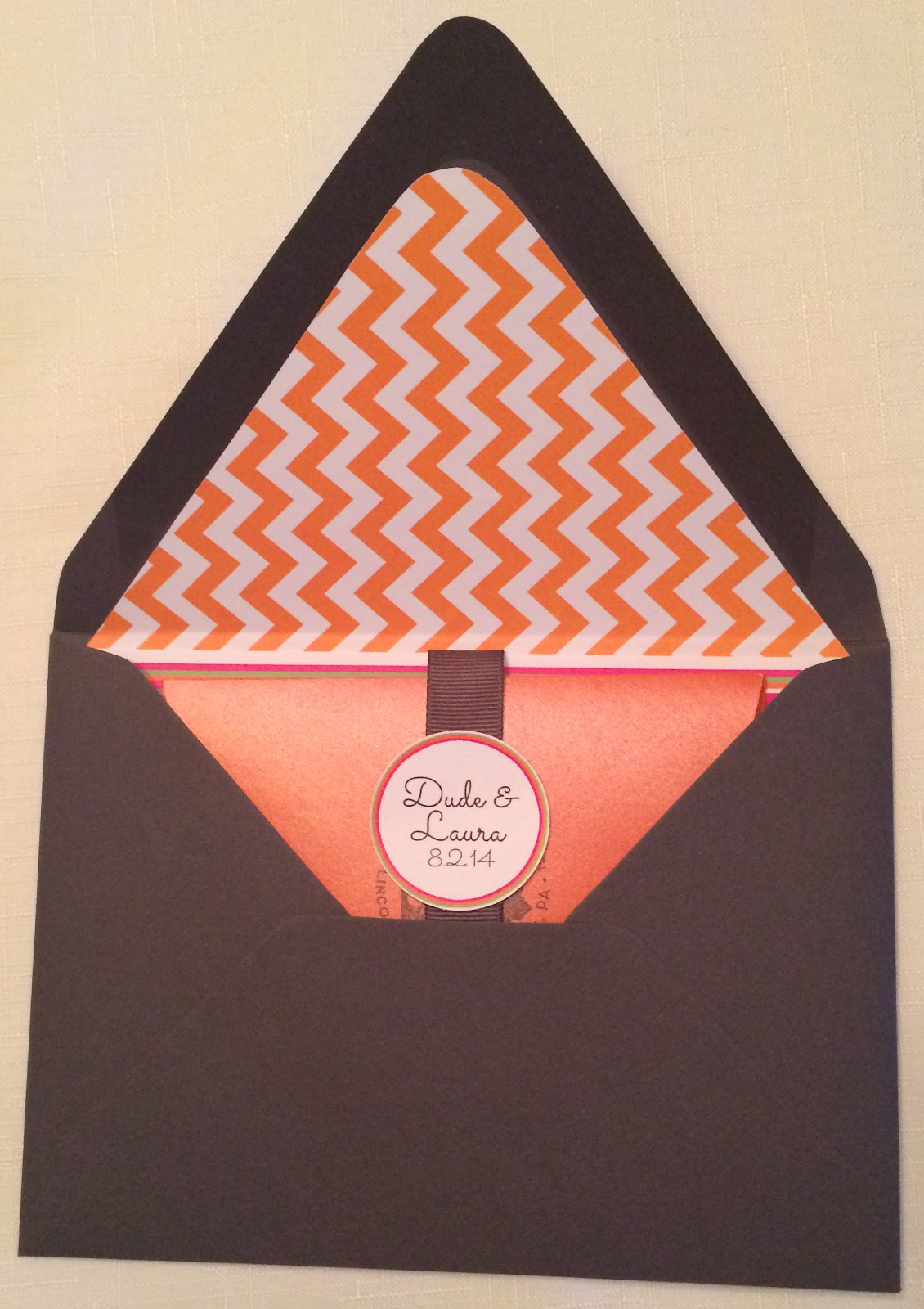 Doeblerghini Bunch:  Wedding Invite Details - Envelope Lined