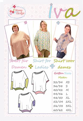 Mamu Design: IVA, lässiges Maxi-Shirt (Schnittmuster Damen)