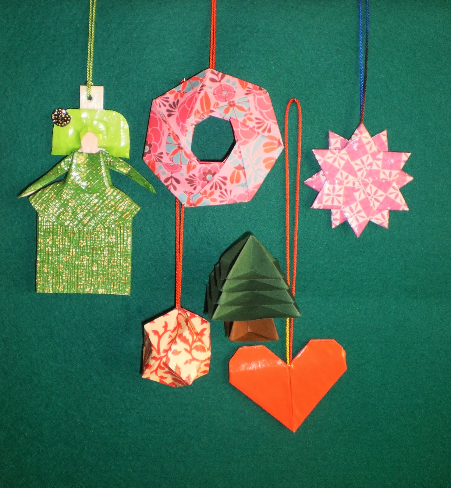 Empapelarte adornos navide os en papel - Adornos navidenos de papel ...
