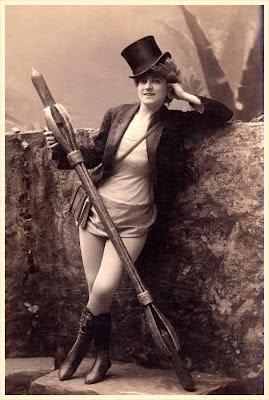 foto antigua de dama vintage