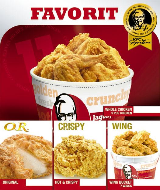 Always Love My Life....: Acuan Daftar Harga KFC (buat yang ...
