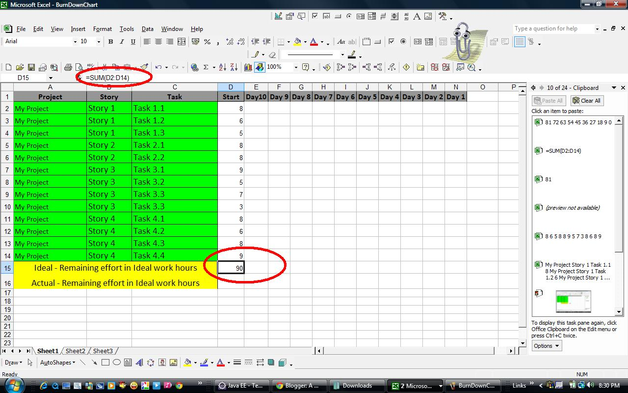 Burndown Chart  1 Free Templates in PDF Word Excel Download