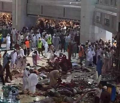 buongiornolink - La Mecca, una tempesta fa crollare gru sulla folla almeno 87 morti e 180 feriti