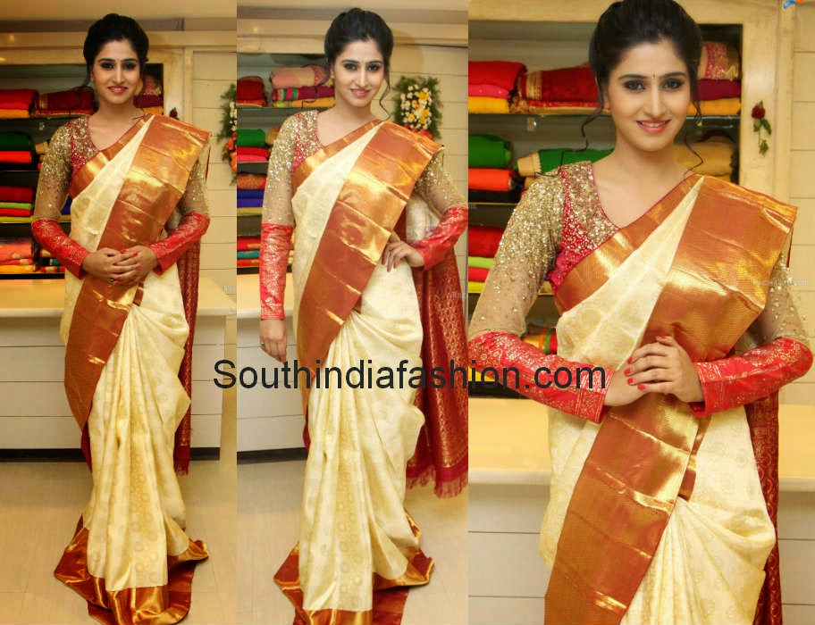 shamili in bridal saree