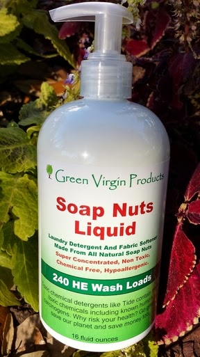 green virgin soap nuts liquid detergent