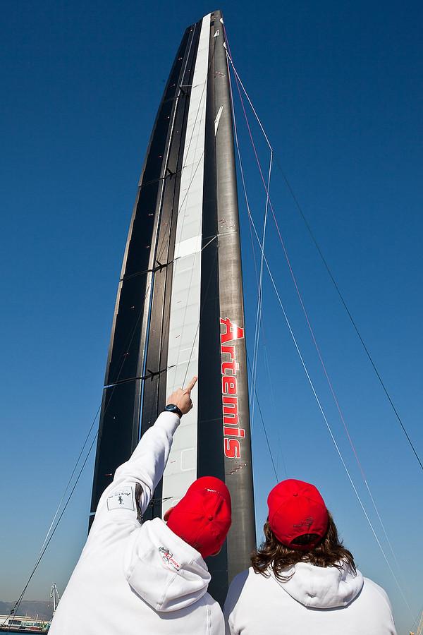 L'aile de 40 mètres de Artemis en trois parties
