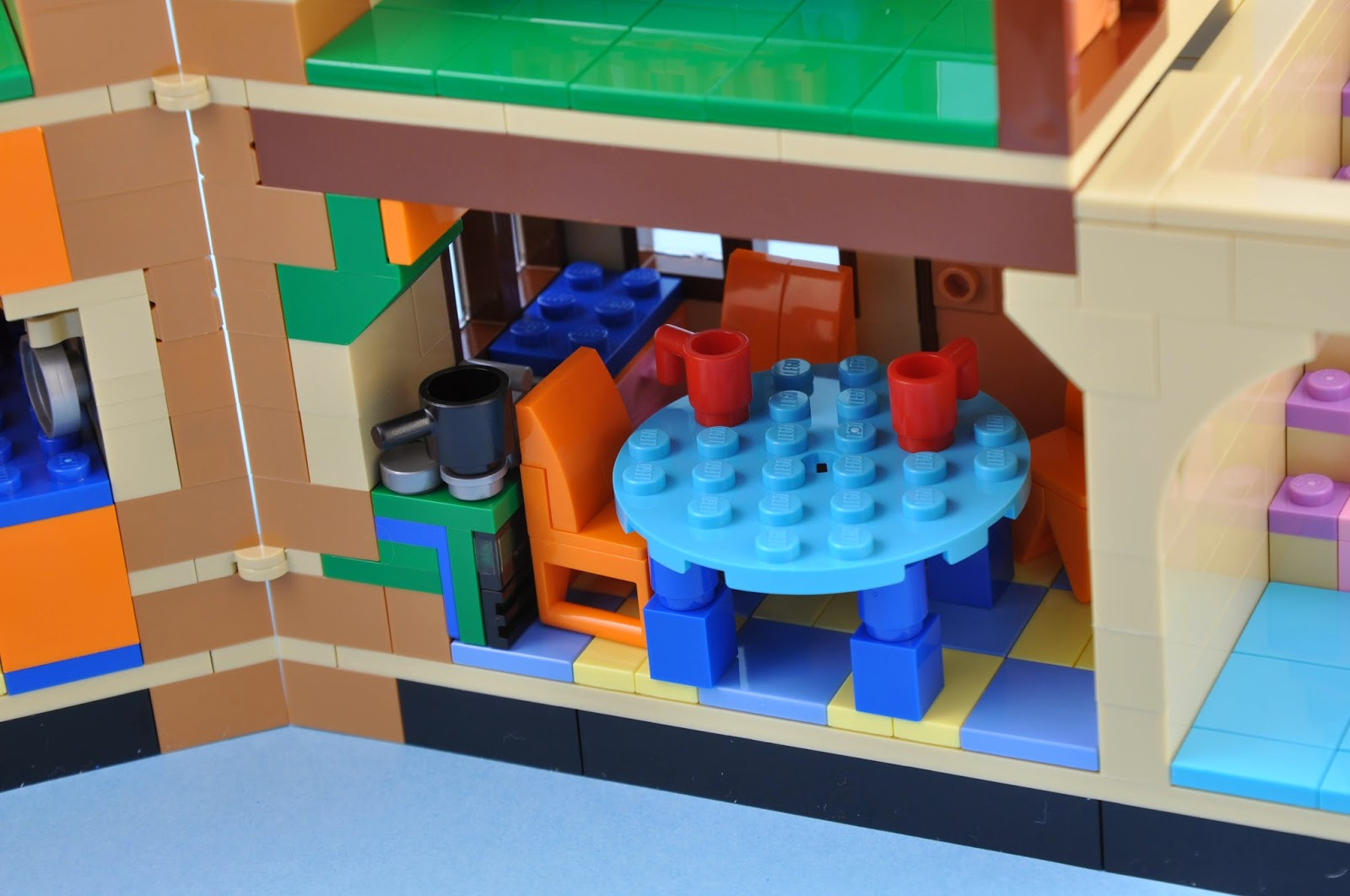 Oz Brick Nation LEGO The Simpsons  The Simpsons House Review - Lego house interior