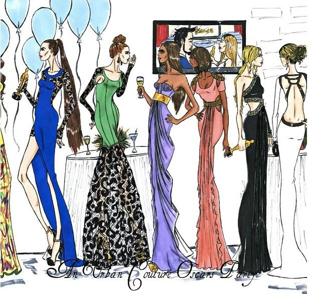 jerron couture party dresses red carpet dresses oscar dresses fashion design illustration