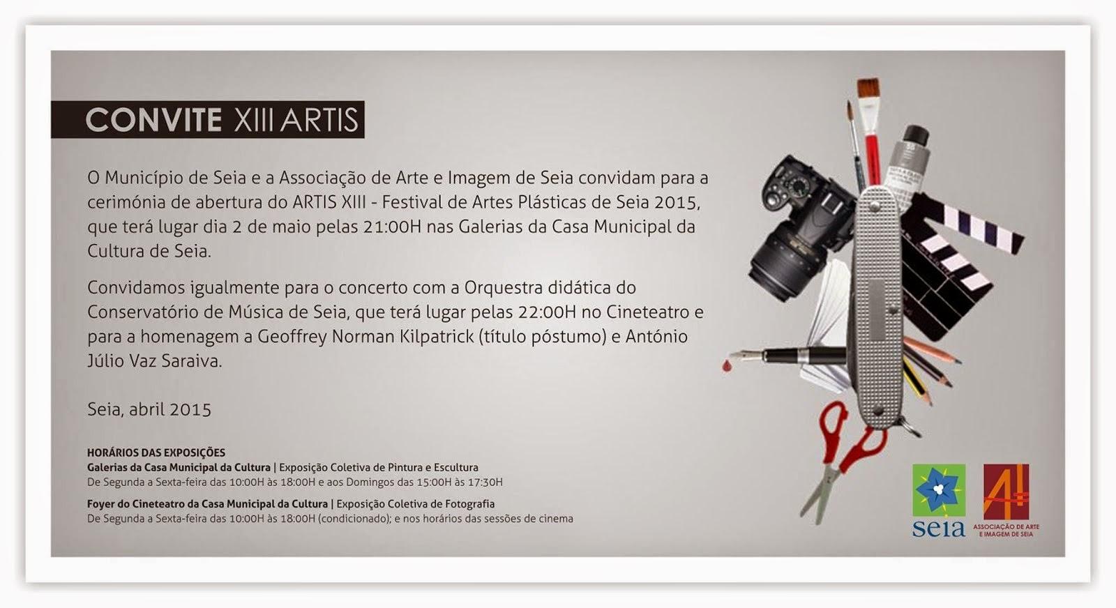 XIII, do Artis - Festival de Artes Plásticas de Seia, na Casa Cultura de Seia