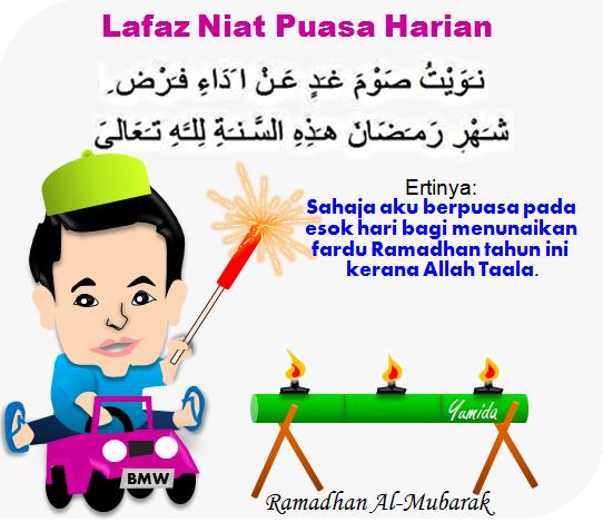 lafaz niat puasa harian ramadhan