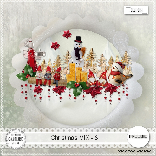 Freebie Christmas Mix 8- CU from Cajoline scrap