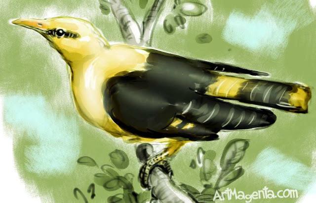 Sommargylling är en fågelmålning av  ArtMagenta