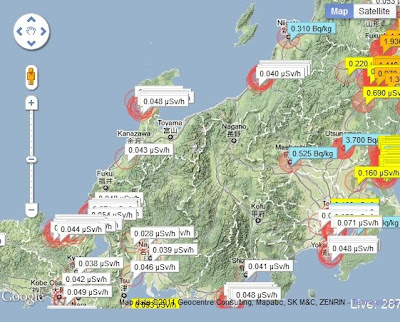The Japan Geigermap - for crowd-sourced radioactivity
