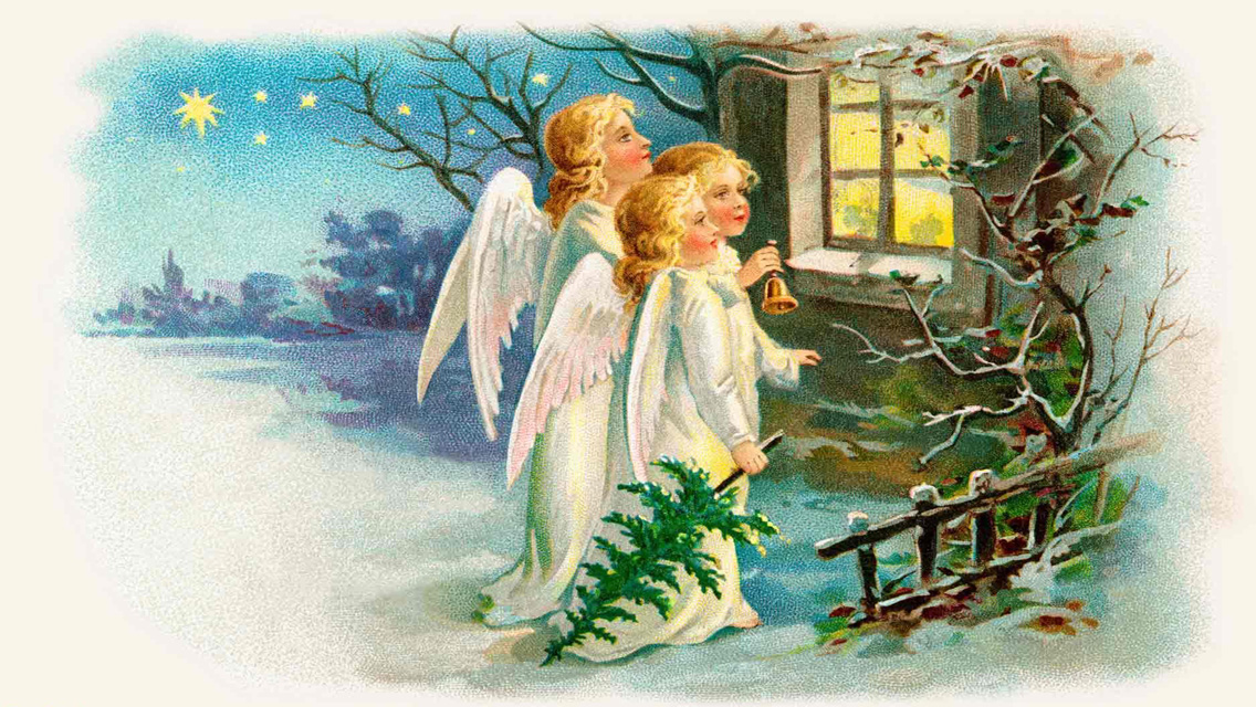 free download christmas angels hd wallpapers for iphone 5