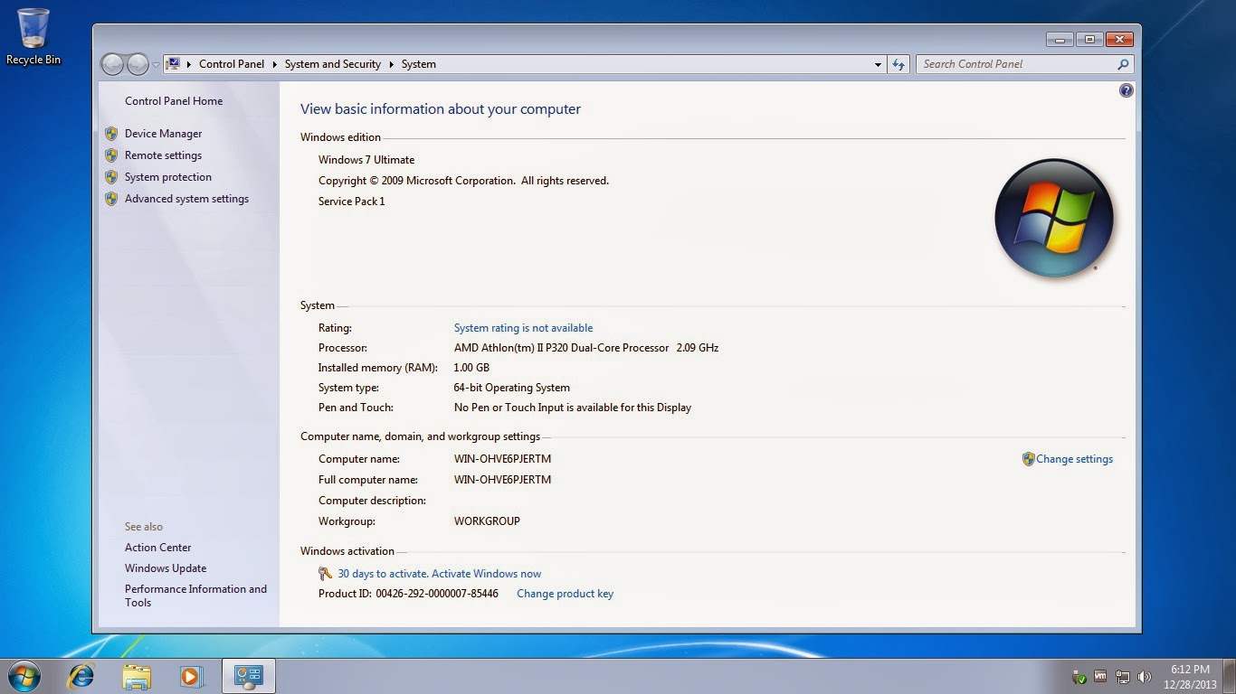 product key pre installed windows 7