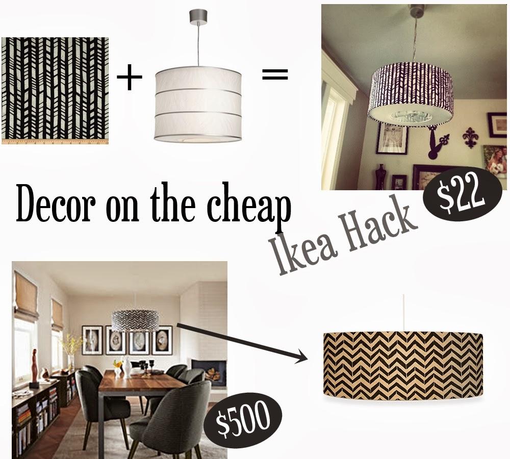 Momma Maven: Decor on the Cheap: Herringbone Drum Pendant Ikea Hack